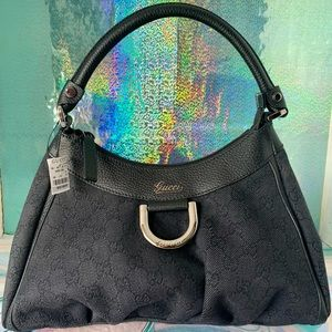 Gucci NWT D Ring Abbey Hobo